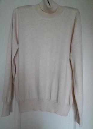 Новая водолазка, базовый плотный свитер молочного цвета