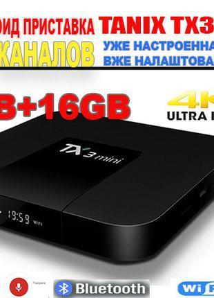 Новая тв приставка Tanix TX3 mini 2Гб+16Гб андроид tv box СМАРТ
