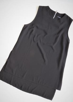 Блуза atmosphere без рукавов,туника с разрезами