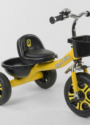 Детский трехколесный велосипед Best Trike 9033 жёлтый