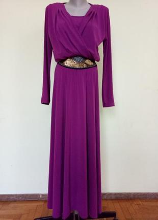 Шикарное нарядное длинное платье