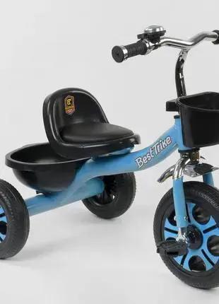 Детский трехколесный велосипед Best Trike 4405 голубой