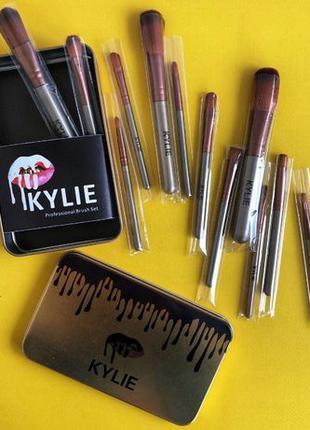 Набор кистей для макияжа Kylie Professional Brush Set 12шт кис...