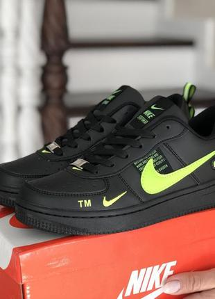 Nike air force utility black/green🔺женские кроссовки найк еир ...
