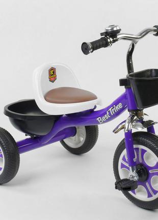 Детский трехколесный велосипед Best Trike 1355 фиолетовый