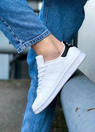 Стильные кроссовки 😍 adidas stan smith white black 😍
