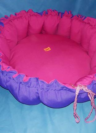Лежак 2 в 1 60см для собак, кошек (коврик, мягкое место )