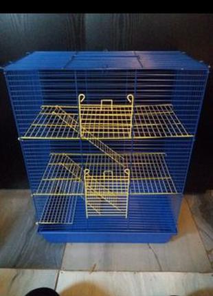 "Клетка для грызунов 47х28х62 ""Бони"" ( крыс, большая,3-х етажная)"