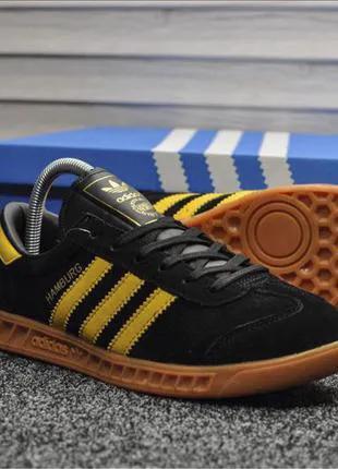 Кроссовки Adidas Hamburg (черно/желтые)