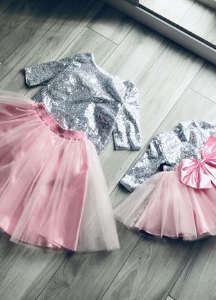 Прокат аренда платья фемили лук (мама дочка) платье на день рожде