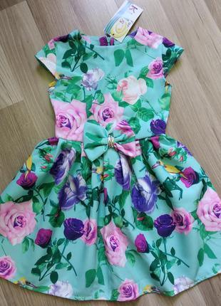 Красивое нарядное платье девочке 116р.
