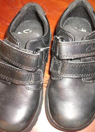 Туфли кожаные  на мальчика clarks