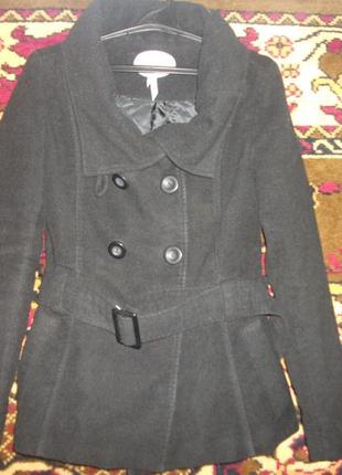 Жакет,полу-пальто черное