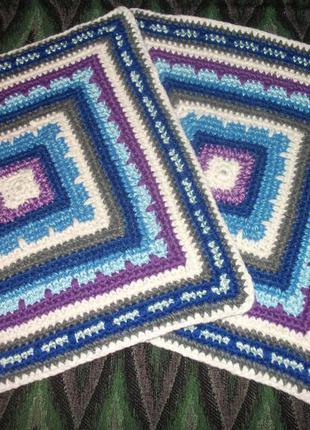 Набор : наволочка на подушку плотная  вязанная