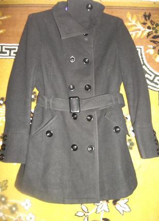 Полу-пальто черного цвета