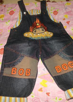 Джинсовый комбинезон,штаны для мальчика