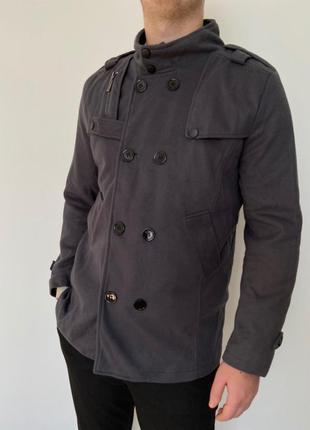 Серая кофта полу пальто мужская - мужское