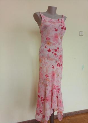 Очень красивое легкое брендовое платье длинное