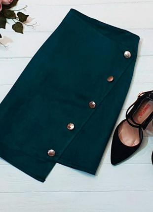 🖤темно синяя юбка под замш🖤