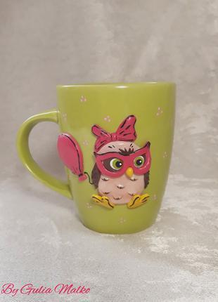 Чашка с совой