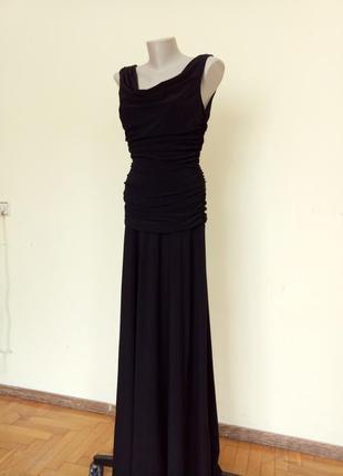 Шикарное вечернее нарядное английское платье длинное