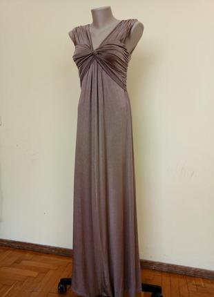 Итальянское шикарное нарядное платье длинное