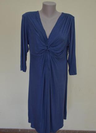 Классное трикотажное платье на подкладке