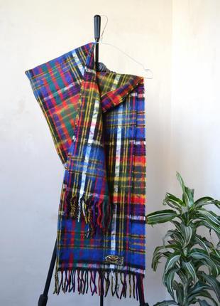 Длинный разноцветный шарф made in italy