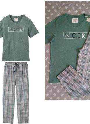 Мужская пижама домашний костюм, биохлопок, livergy германия, ф...