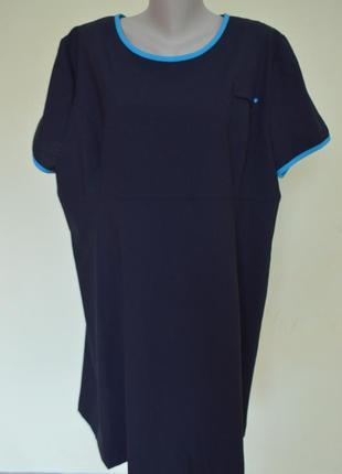 Шикарное платье большого 24 размера шерсть 58 %