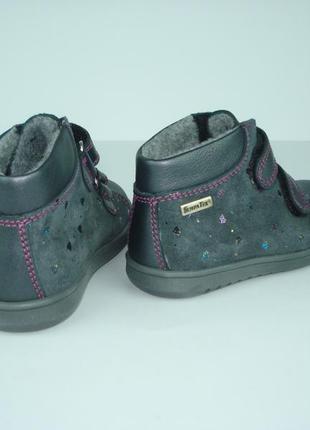 Кожаные ботинки для девочки бренда richter