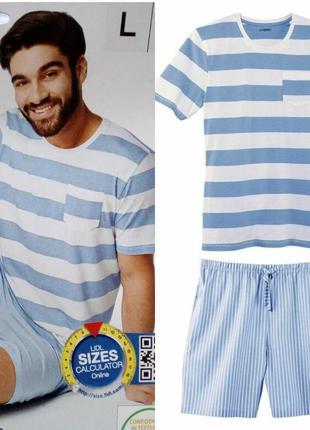 Красивый летний комплект мужская пижама домашний костюм liverg...