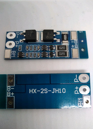 BMS контролер для 2 литионовых аккумуляторов. Плата управления li
