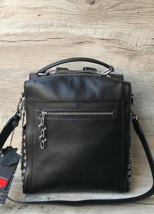 Женский вместительный рюкзак - сумка кожа