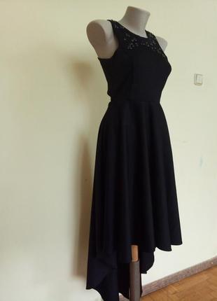 Шикарное вечернее нарядное платье с шлейфом открытая спина