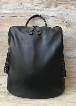 Кожаный модный женский рюкзак