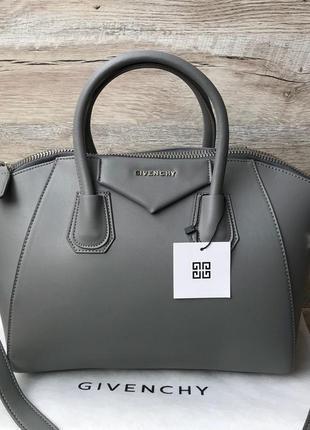 Женская стильная сумка серая