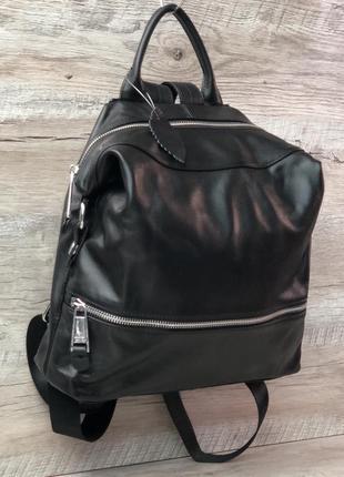 Женский кожаный рюкзак премиум качество