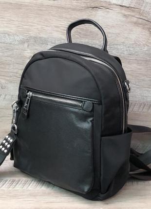 Женский стильный рюкзак чёрного цвета