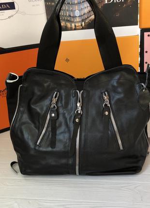 Большая женская сумка кожа
