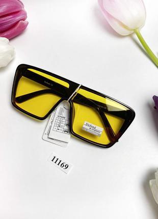 Желтые солнцезащитные очки-маска к.11169