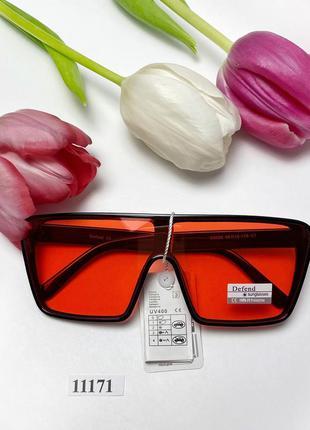 Красные солнцезащитные очки-маска к.11171