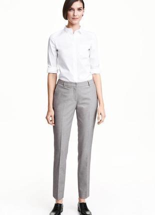 Стильные зауженные брюки классика слим h&m