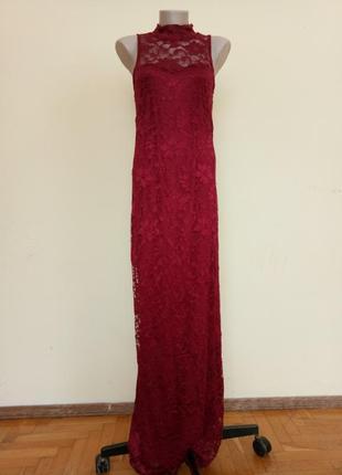 Шикарное брендовое нарядное платье гипюровое