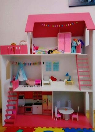 Большой кукольный дом домик для кукол