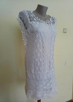Гипюровая туника платье подойдет на пляж