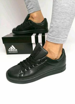 Adidas stan smith🔺женские кроссовки адидас стан смит черные