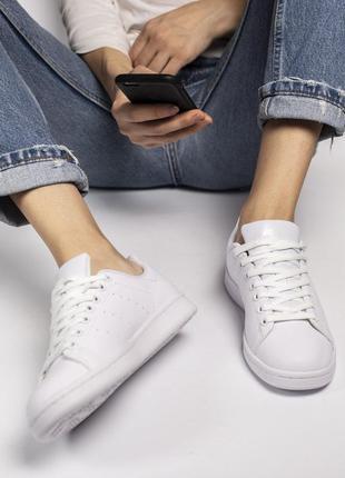 Adidas stan smith 🔺женские кроссовки адидас стан смит белые