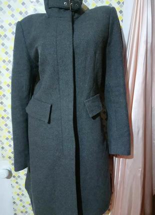 Cтильное пальто на молнии. 🌸 flame 🌸 шерсть 50 %.