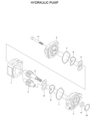 Гидравлический насос для погрузчика Hyundai HDF15-3